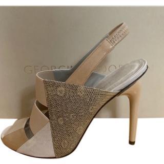 Georgina Goodman Leather & Lizard Print Sandals