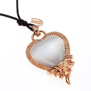 Just Cavalli Moonlight Snake Heart Necklace