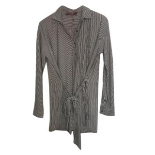 Max Mara Striped Belted Blouse