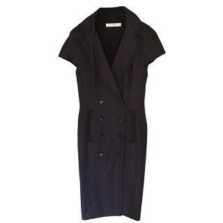 Christian Dior Pinstripe Coat Dress