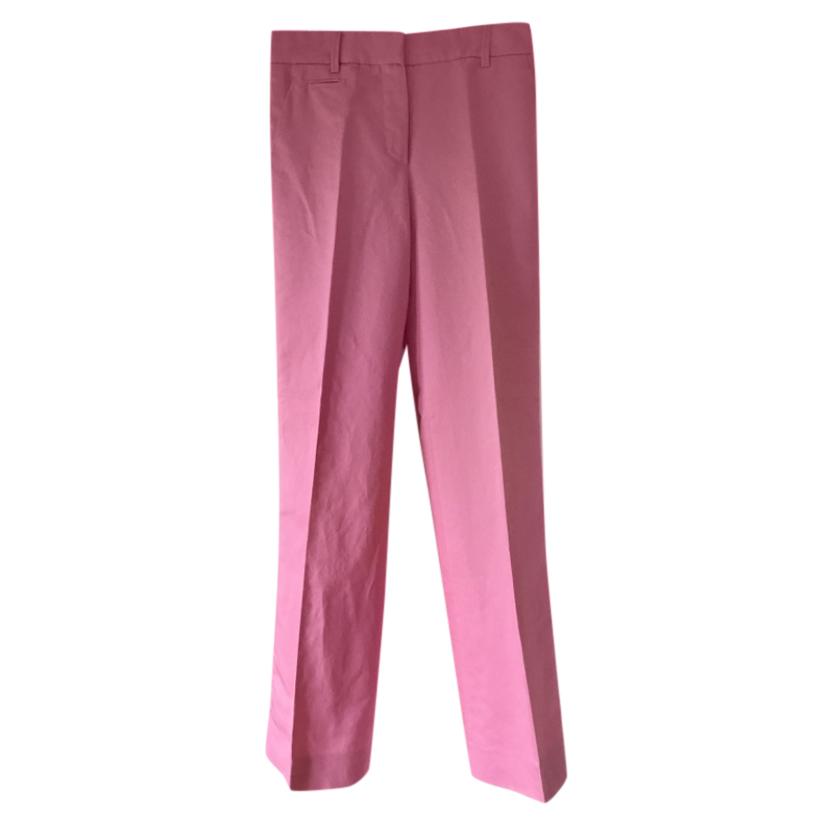 Louis Vuitton Pink Satin Woven Pants