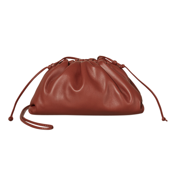 Bottega Veneta The Mini Pouch in Rust