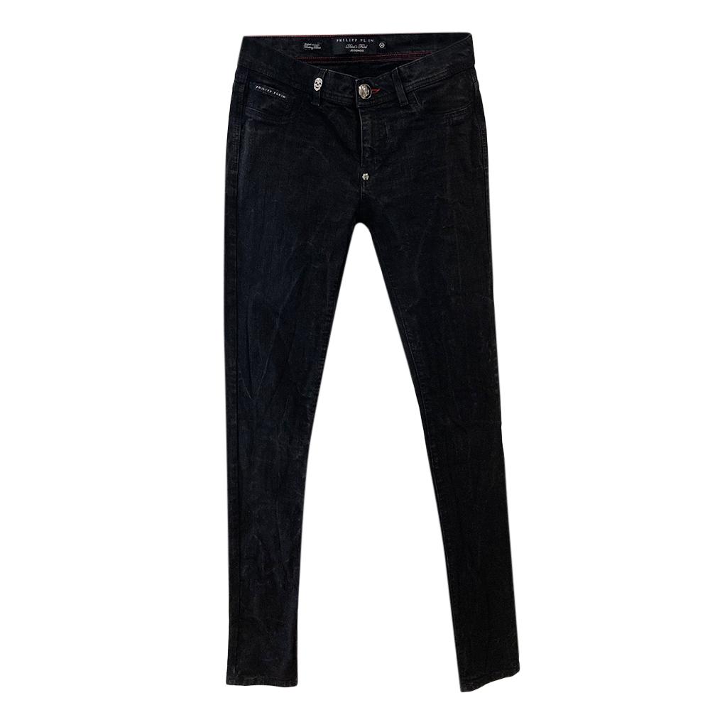 Philipp Plein Black Washed Skinny Jeans
