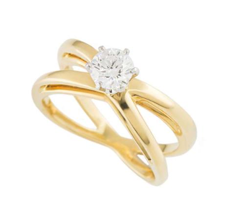 Tiffany & Co. Diamond Cross Ring