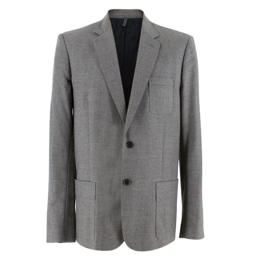 Dior Two Button Grey Tailored Suit Jacket