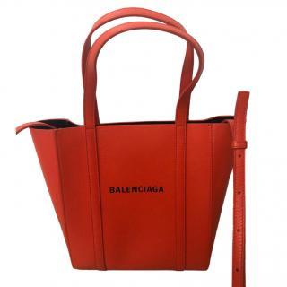 Balenciaga Red Leather Top Handle Shoulder Bag