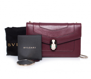 Bvlgari Burgundy Leather Serpenti Forever Bag