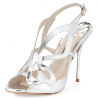 Sophia Webster Metallic 100mm Madame Butterfly Sandals