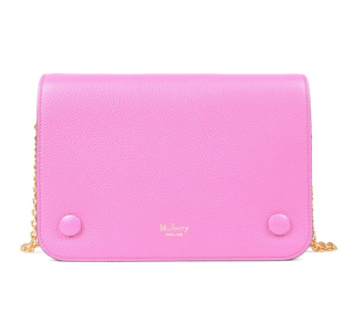 Mulberry Pink Grained Leather Clifton Crossbody Bag