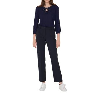 Gerard Darel Navy Tailored Ankle Crop Pants
