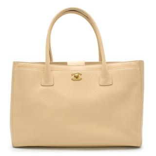 Chanel Beige Leather Cerf Tote Bag