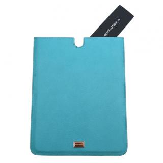 Dolce & Gabbana Blue Saffiano Leather iPad Case