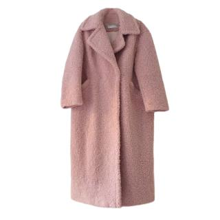 Max Mara Pink Icon Teddy Coat
