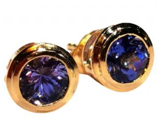 Bespoke Yellow Gold Tanzanite Earrings