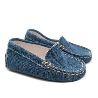 Tod's denim kids loafers