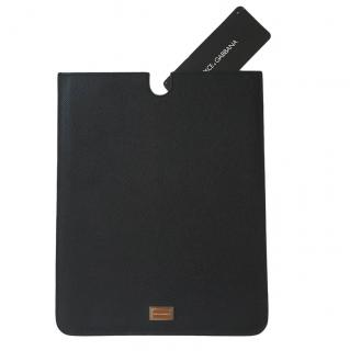 Dolce & Gabbana Black Saffiano Leather iPad Case