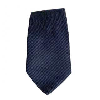 Armani Collezioni Silk Navy Jacquard Tie