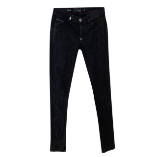 Philipp Plein Black Washed Skinny Jeans