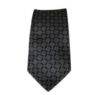 Fendi men's silk jacquard tie