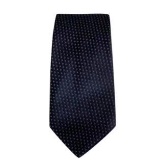 Armani Collezioni Navy Spotted Silk Tie