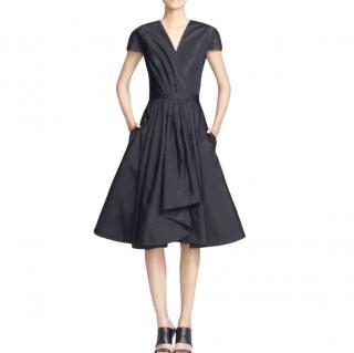 Jason Wu Navy Silk Skater Dress