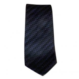 Valentino Navy & Black Silk Jacquard Tie