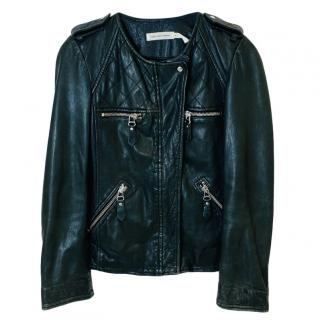 Isabel Marant black leather biker jacket