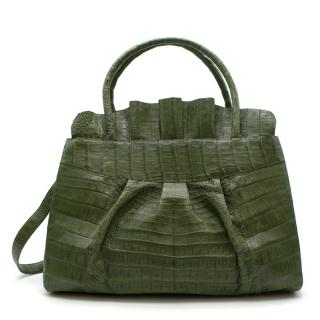 Nancy Gonzalez Green Crocodile Tote Bag