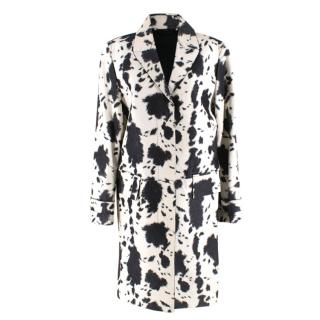 Burberry Calfskin Cow Print Trench Coat
