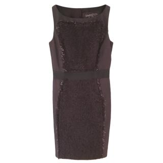 Giambattista Valli Black Tweed Sleeveless Dress
