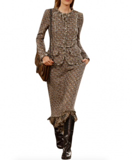 Chanel Paris/Dallas Runway Brown Tweed Jacket