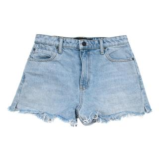 Alexander Wang Bleach Denim Bite Shorts