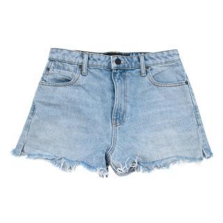 Alexander Wang Bleach Denim Bite Shorts