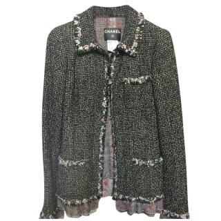 Chanel Cruise Collection Tweed Jacket with Silk Chiffon Trim