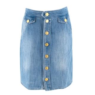 Isabel Marant Etoile Odelle Denim Button Front Skirt