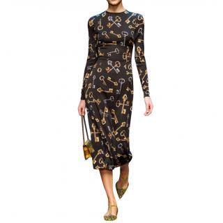 Dolce & Gabbana key print runway midi dress