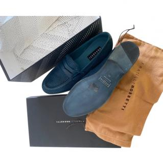 Fratelli Rossetti Blue Woven Leather Loafers