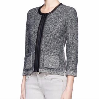 Rag & Bone Leather Trim Wool cardigan Jacket