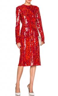 Nina Ricci Sequin Embellished Georgette Dress