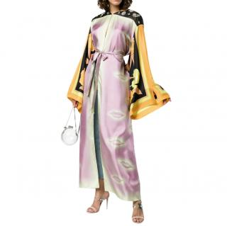 Dries Van Noten Silk Kimono With Contrasting Sleeves