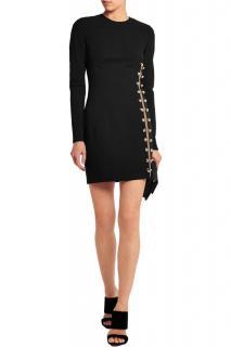 Versus Versace Black Fitted Embellished Mini Dress