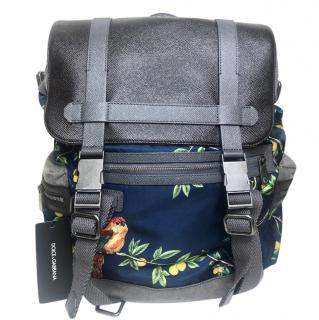 Dolce & Gabbana black label Navy lemon tree Gobelin backpack