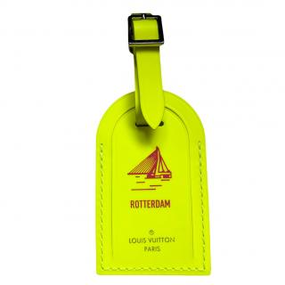 Louis Vuitton Neon Yellow Rotterdam Luggage Tag