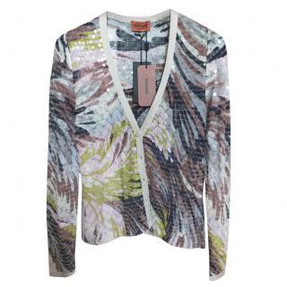 Missoni Sequin Printed Knit Cardigan