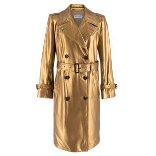 Dries Van Noten Gold Trench Coat