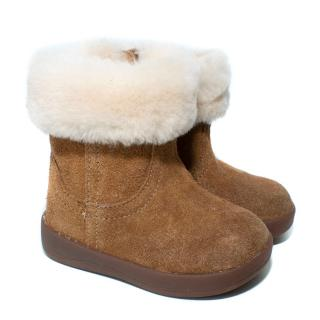 Ugg Australia Kid's Brown Sheepskin Lined Ugg Boots