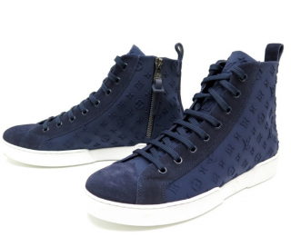 Louis Vuitton embossed monogram high-top trainers