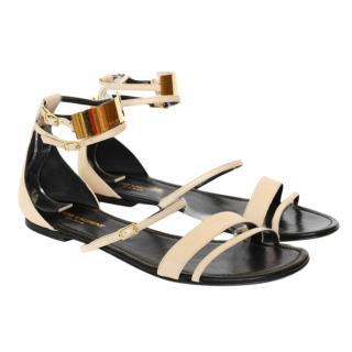 Saint Laurent Janis Leather Gladiator Sandals