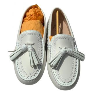 Tod's Gommini White Loafers