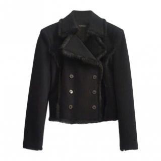 Strenesse Black Virgin Wool Jacket